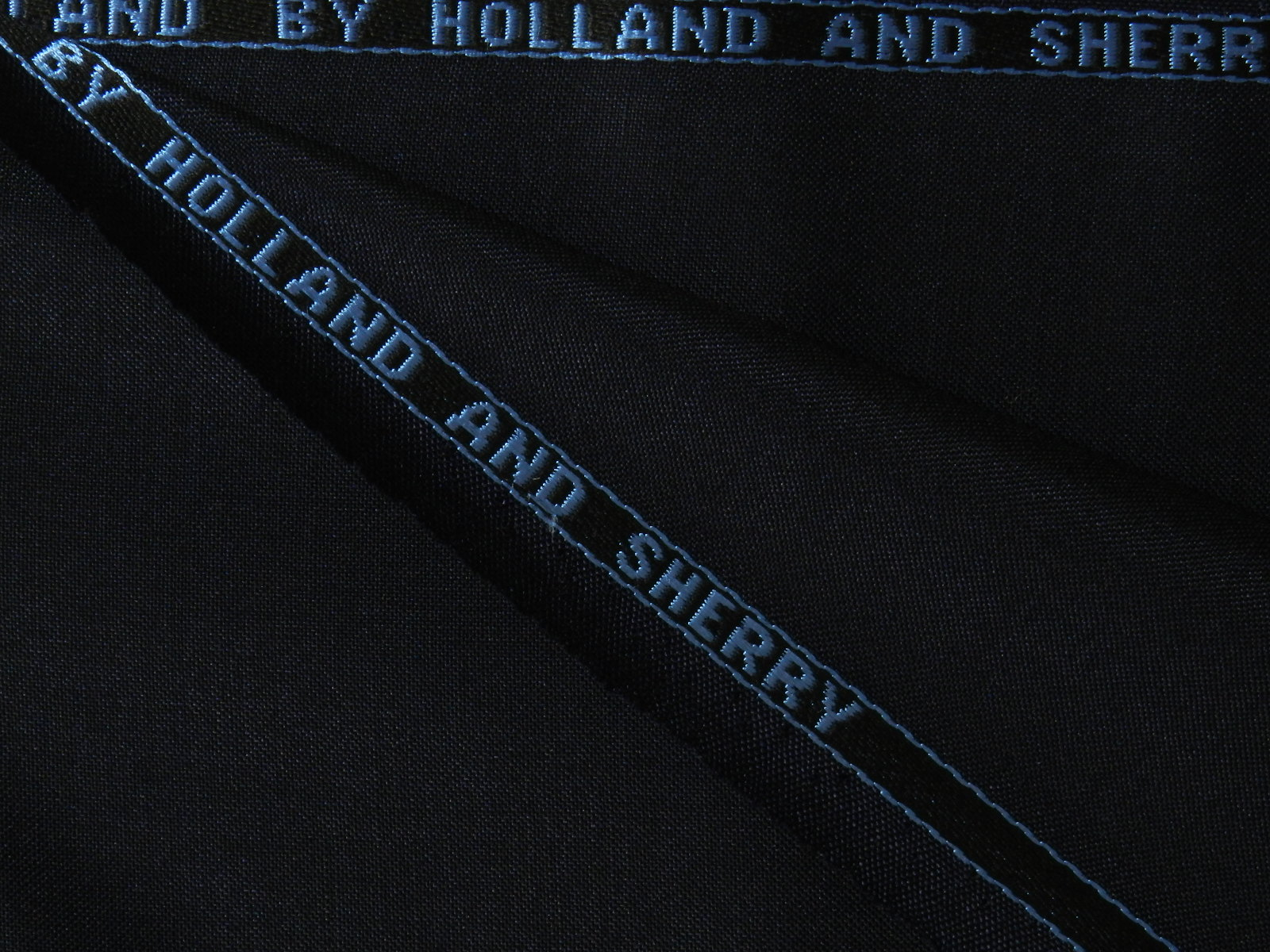 HOLLAND AND SHERRY(ホーランドアンドシェリー) / ENGLAND / モヘア / ウール / ネイビー 系 / 織り柄 系 / super 100'S