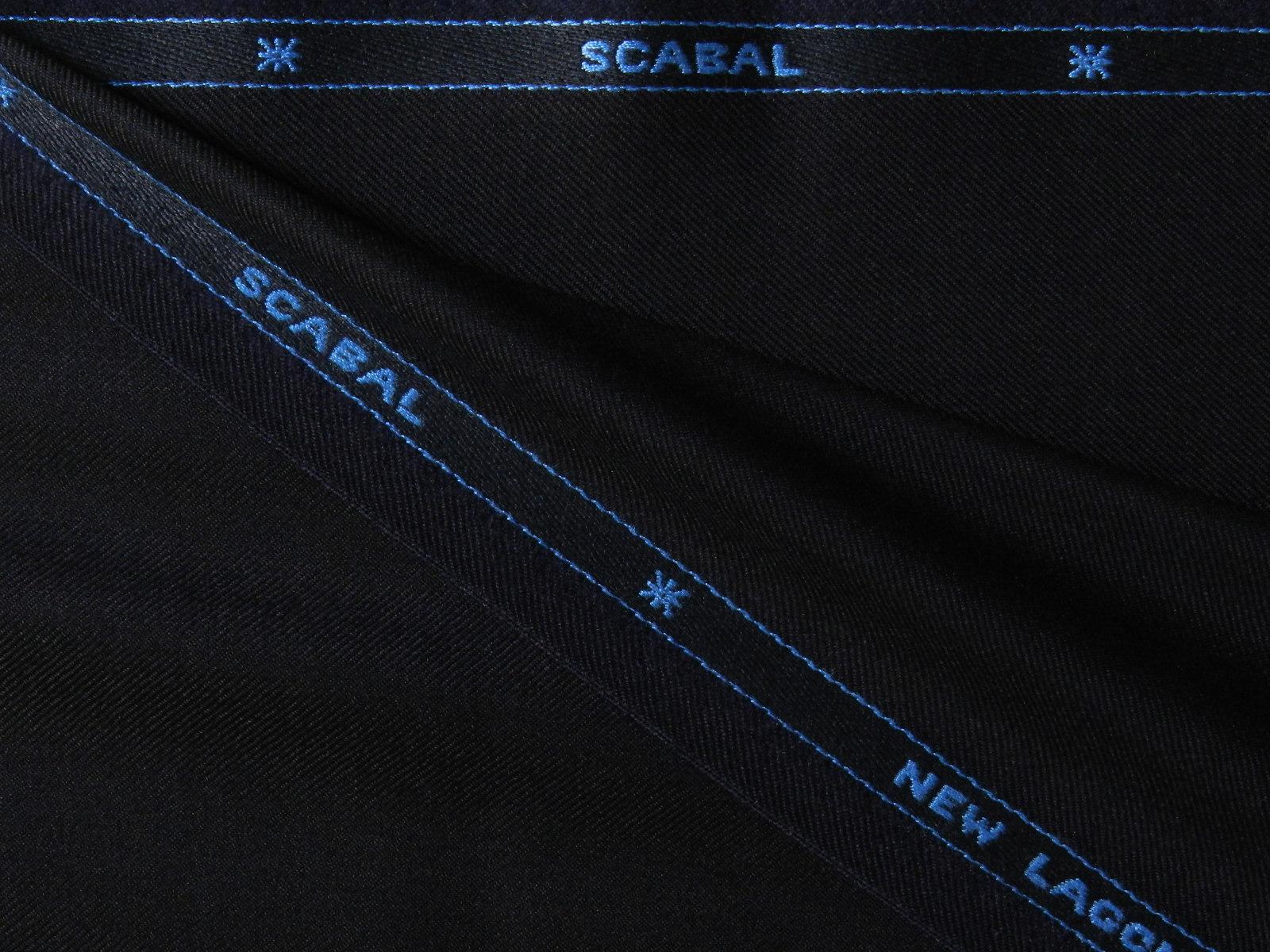 SCABAL(スキャバル) / NEW LAGONDA / ENGLAND / ウール / ネイビー 系 / 織り柄 系 / super 100'S